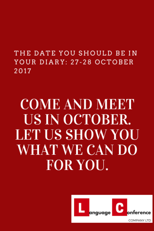 come and meet us in october! let us show what we can do for you.
